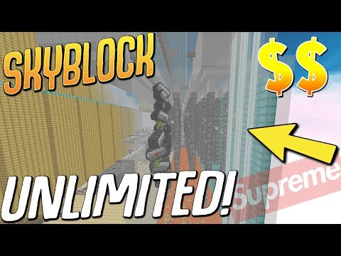 UNLIMITED FREE MONEY!  (1,000 Iron Per SECOND) $$$ (Minecraft Skyblock) #28