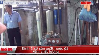 Đỉnh 2 cở sản xuất nước đá kém chất lượng | Truyền Hình - Báo Tuổi Trẻ