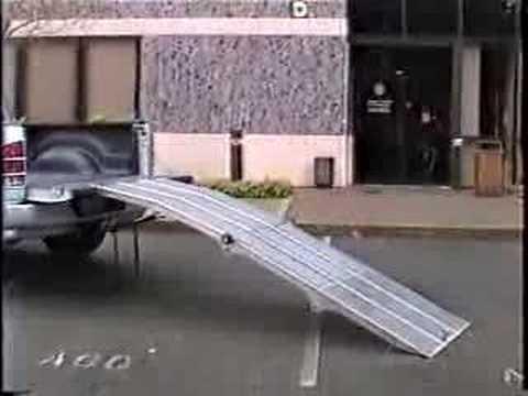 Portable loading ramp demo