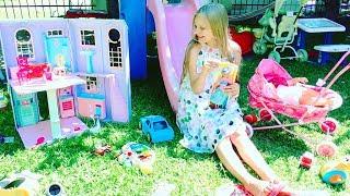 СТРАННЫЙ ДОМ куклы БАРБИ 🌈 Strange Barbie Doll House and Barbie Doll .Видео для детей