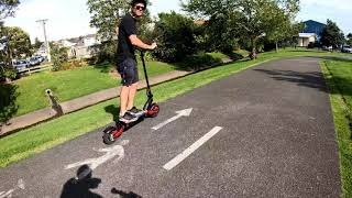 Joyor F7 Electric scooter test drive - Haris Hasan - thsiam com