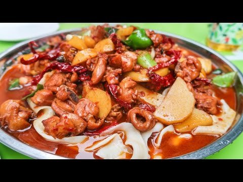 Thumbnail: Halal Street Food Journey To Islamic China | Xinjiang HUGE CHICKEN PLATE on the Chinese Silk Road