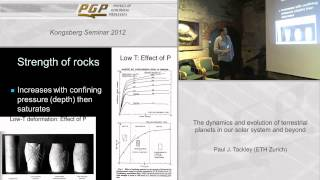 Lecture - The dynamics and evolution of terrestrial planets