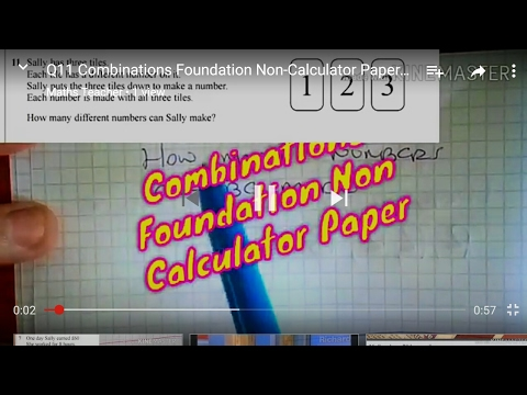 Q11 Combinations Foundation Non-Calculator Paper Sample Assessment Material Two