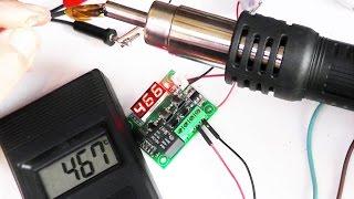 Как термостат W1209 сделать до 500 градусов измерение, настройка и тест.