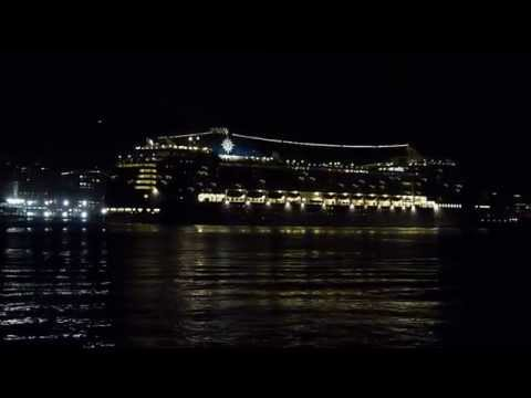 MSC Poesia departs Manhattan 10/11/2011