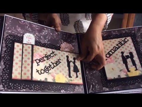 Romantic Scrapbook/ DIY Cutest Birthday Scrapbook ideas  Handmade love scrapbook for someone special