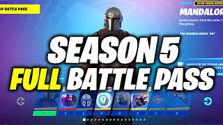 Fortnite Season 5 Chapter 2 - BATTLE PASS - How to Unlock & UPGRADE (ALL 100 TIERS REWARDS)