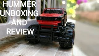 UNBOXING & REVIEW OF OFF-ROAD HUMMER RC CAR.