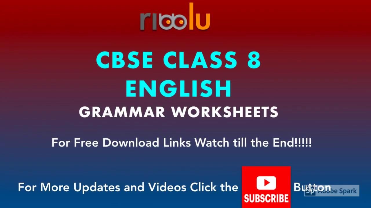 Cbse Class 8 English Grammar Worksheets Tenses Modals Noun English Grammar English Vocabulary Words Grammar Worksheets [ 720 x 1280 Pixel ]