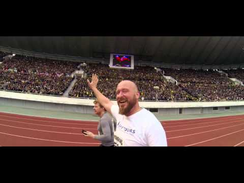 Running in a stadium with 50,000 North Koreans in the DPRK