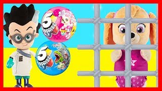 Zuru 5 Surprise Jail Challenge with Paw Patrol Skye and PJ Masks Romeo - Ellie Sparkles