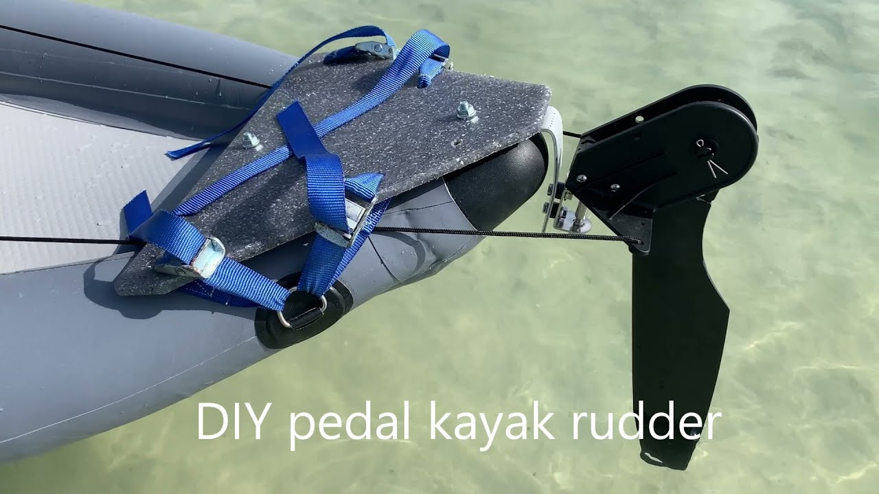 DIY Kayak Rudder For Pedal Inflatable Kayak. Manual operation.