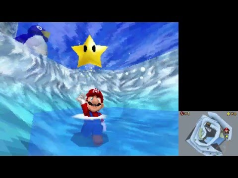 Super Mario 64 DS - Switch Star of Cool, Cool Mountain without Wario