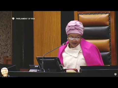 Baleka Mbete Already Calls  Cyril Ramaphosa Mr PRESIDENT - Funny