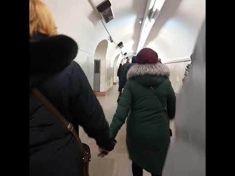 переход с метро Третьяковская на Новокузнецкую станцию