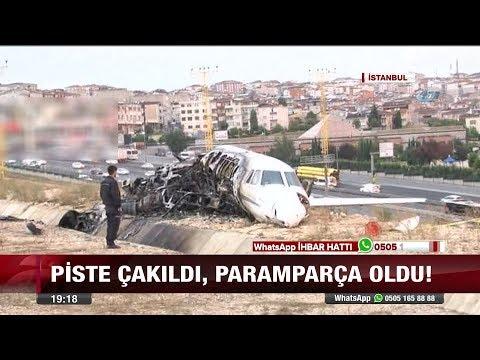 İstanbul'da uçak düştü!  - 22 Eylül 2017