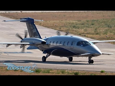 Piaggio P-180 Avanti II - Close-up Takeoff from Split Airport LDSP/SPU