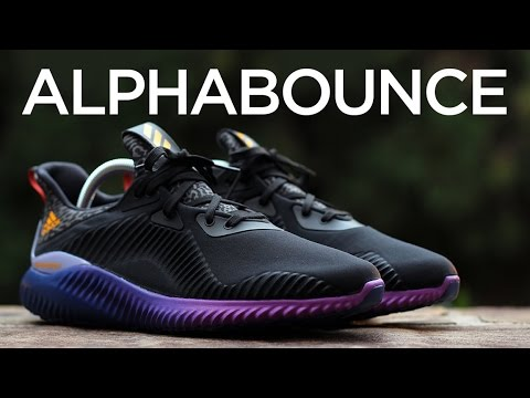 e21ef0d93a335 Closer Look  adidas AlphaBOUNCE - Black Purple - YouTube