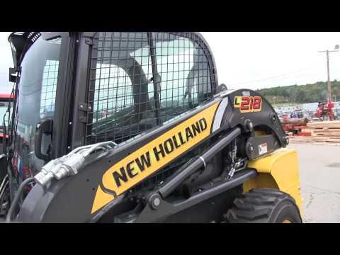 New Holland Skidsteer L218 L 218 - YouTube on