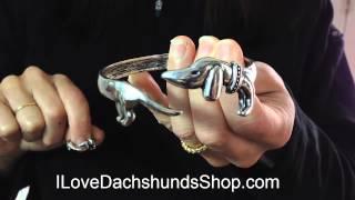 Dachshund Bangle Bracelet And Ring
