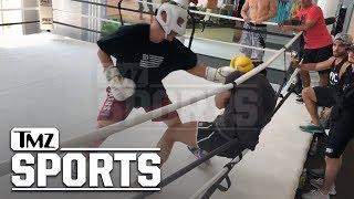 Jake Paul Pummels Opponent In Living Room Boxing Sesh | TMZ Sports