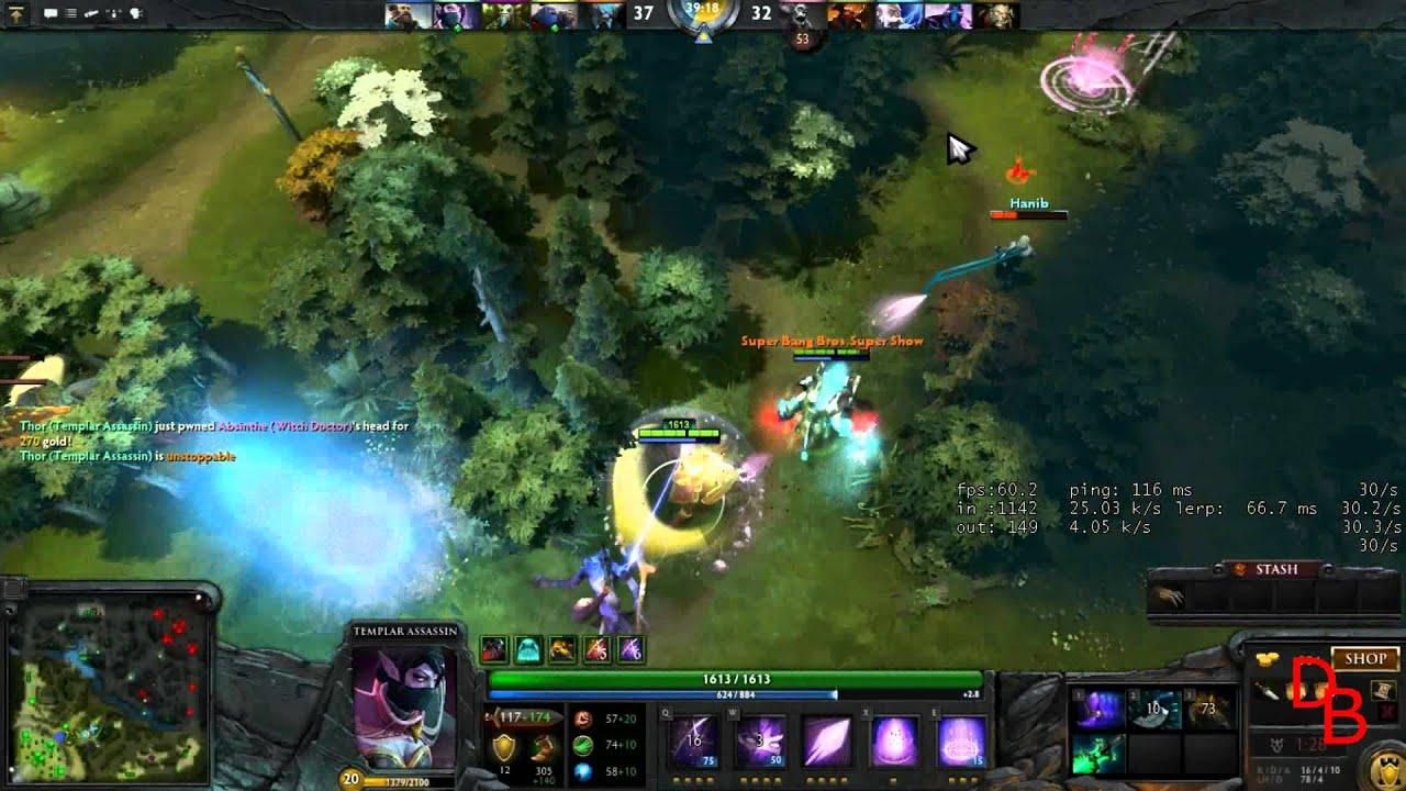 dota 2 templar assassin lanaya comeback game 75 mins youtube