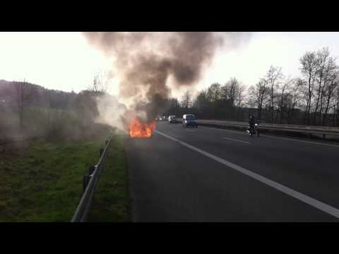 My rental car on fire in Germany #1