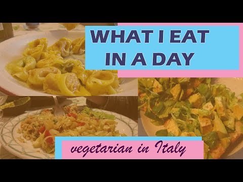 WHAT I EAT IN A DAY #1 // Vegetarian in Italy