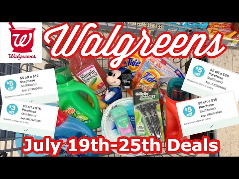WALGREENS IN-STORE HAUL   July 19th-25th Deals   Using Walgreens Coupons