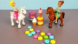 Barbie - bakery playset - Candy machine -Food - Sweets - Horses