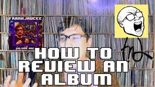 how to review an album