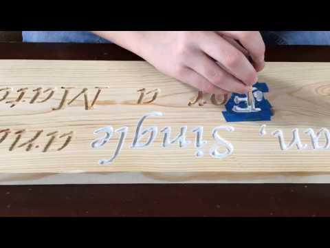 Dremel Wood Engraving