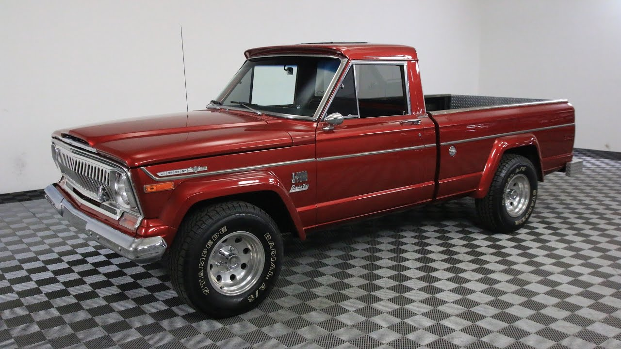 1973 JEEP J2000 RED - YouTube