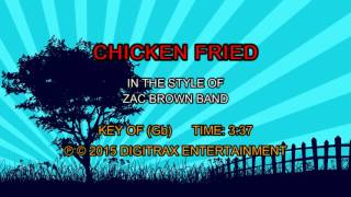 Zac Brown Band - Chicken Fried (Backing Track)