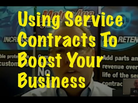 Why service contracts lead to long-term customers - YouTube