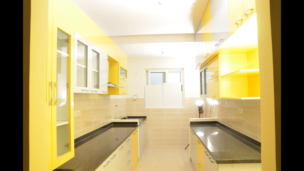 Interior Of A Kitchen Modular Parallel Kitchen Design By Scale Inch Interior Designers
