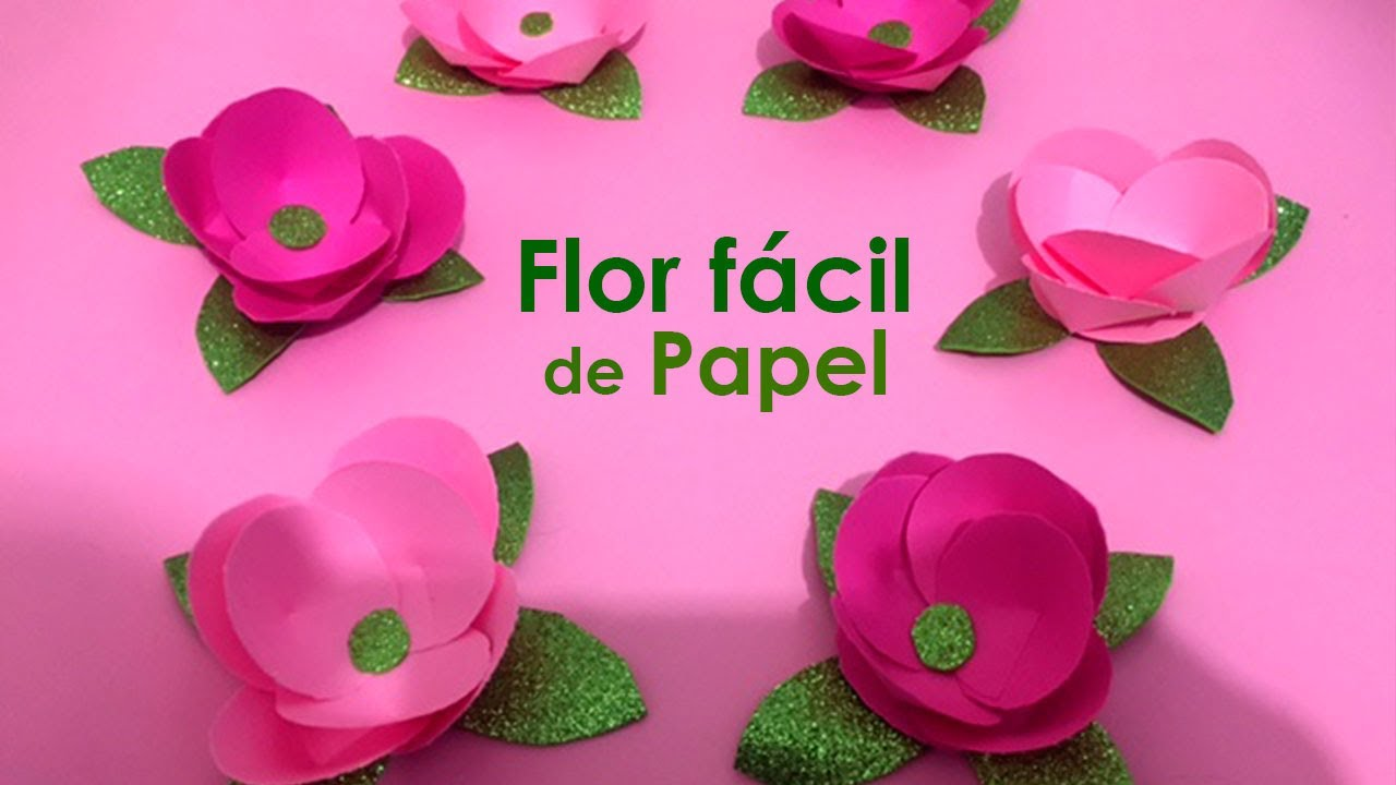 Flor Facil Y Pequena De Papel Para Arreglos De Boda Y 15 Anos Youtube