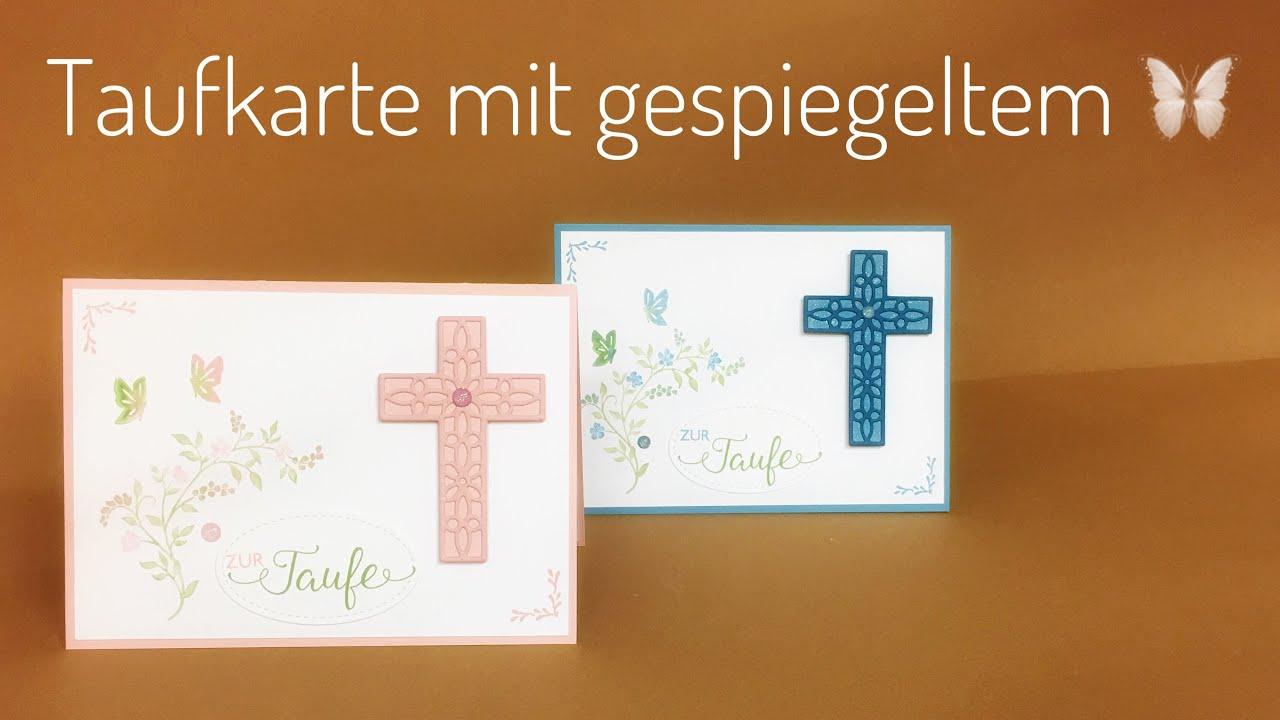 Eine Karte Zur Taufe Mit Stampin Up Produkten Hoffe Und Glaube