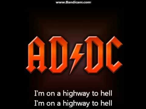 highway to hell with lyrics youtube. Black Bedroom Furniture Sets. Home Design Ideas