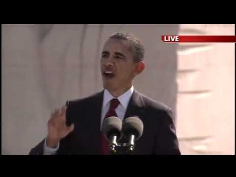 President Barack Obama - POWERFUL dedication speech at MLK Memorial