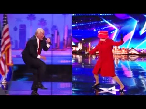 President Donald Trump vs. Queen Elizabeth EPIC Dance Off - Who Wins?