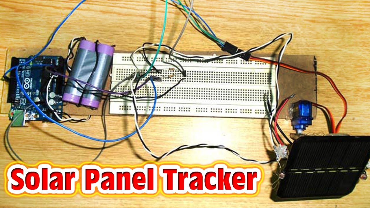 Sun Tracking Solar Panel Circuit Diagram