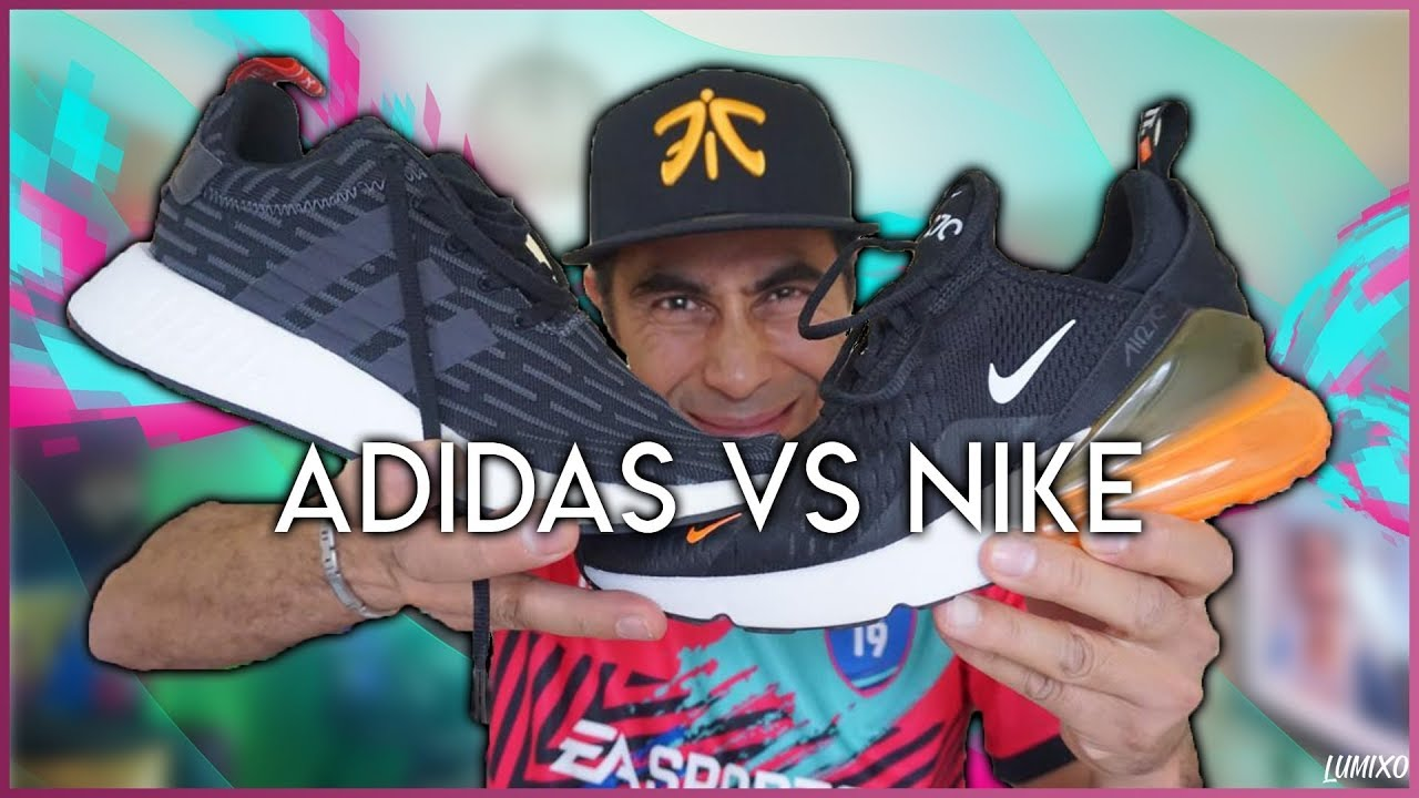 b728f3466c2f Adidas nmd vs Nike air max 270 - YouTube