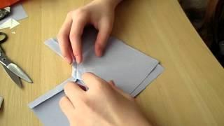 Оригами. Как сделать декоративный бантик из бумаги 1.avi