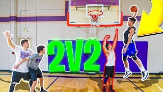 Beat Me & Jesser 2v2 Basketball, I'll Give You $100! *CRAZY POSTER DUNK*