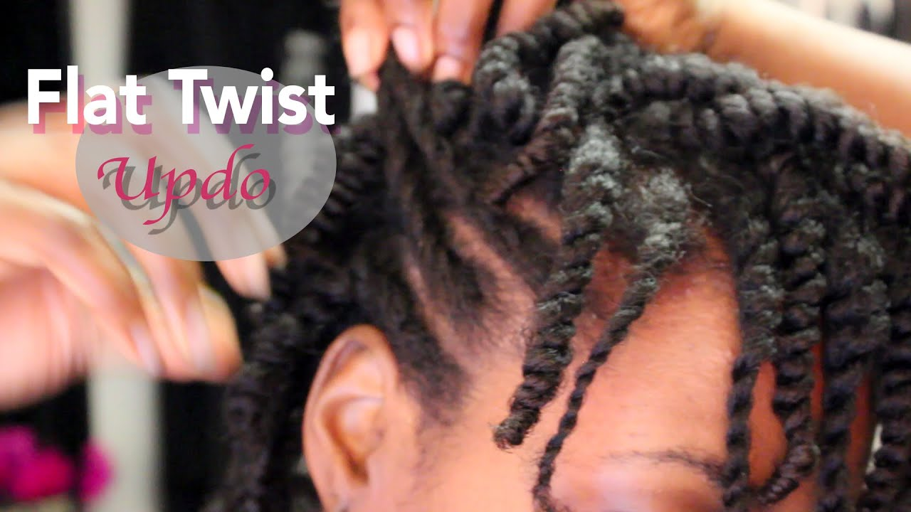 Natural Hair Protective Styling Flat Twist Updo