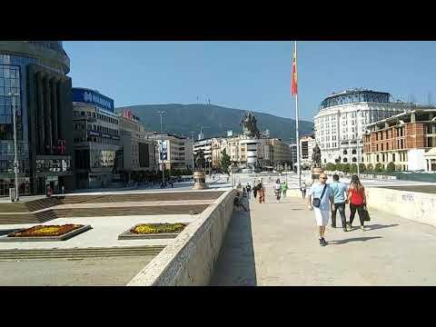 Macedonia Square in Skopje.