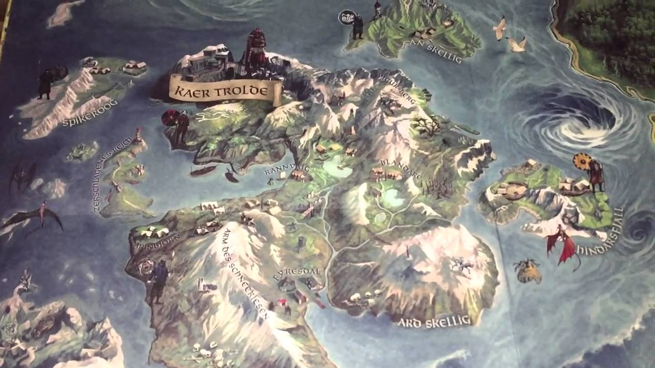 The Witcher 3 Playstation 4 Limited Edition Papier World Map YouTube