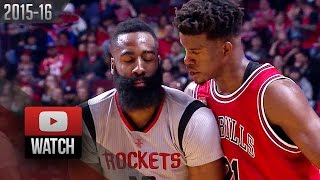 Jimmy Butler vs James Harden EPIC Duel Highlights (2016.03.05) Bulls vs Rockets - 60 Pts Total!